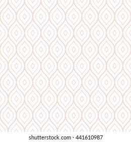 Oriental pink classic ornament. Seamless abstract background