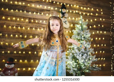 oriental princess whirling at christmas tree