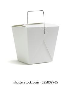 Oriental Restaurant Takeaway Box on White Background