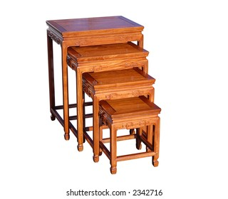 Oriental rosewood nested tables