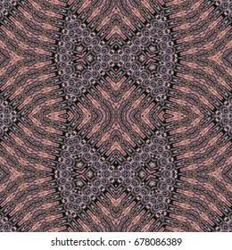 Oriental seamless wallpaper tiles pattern, based on bark of palm tree