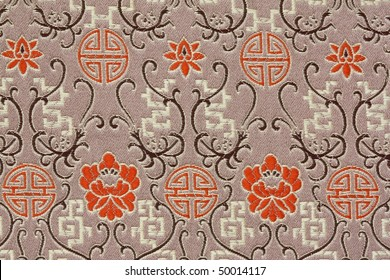 Oriental Silk Fabric Pattern