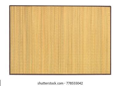 Oriental Straw Mat on White Background