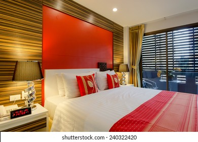 Oriental style apartment Service Room at Patong Beach Phuket, Thailand