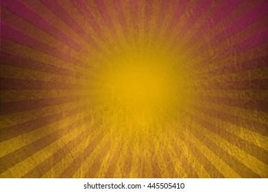 oriental sun with gradient rays
