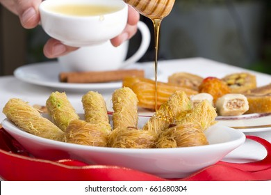 Fantastic Breakfast Eid Al-Fitr Food - oriental-sweets-pouring-honey-on-260nw-661680304  Perfect Image Reference_423465 .jpg