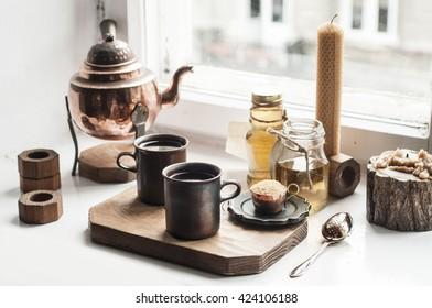 Oriental tea serving