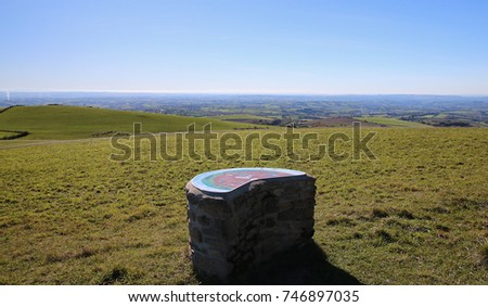 Orientation table in Aveyron France (Lagast summit)