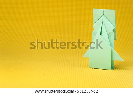 Origami Aircraft Rocket Paper Handmade Copy Stock Photo