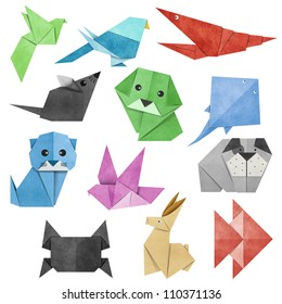 Origami Animal made from Recycle Paper