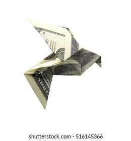 Origami Bird from banknotes