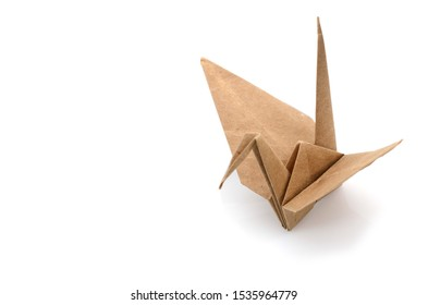 Origami bird by recycle papercraft