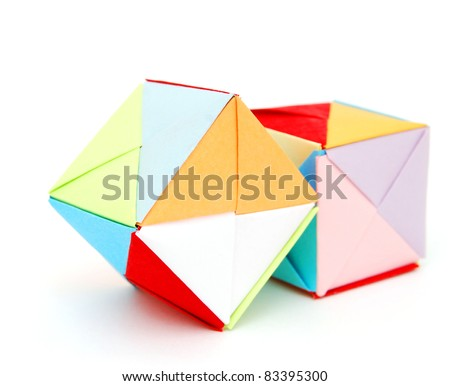 Origami Blocks On Learning Stock Photo Edit Now 83395300
