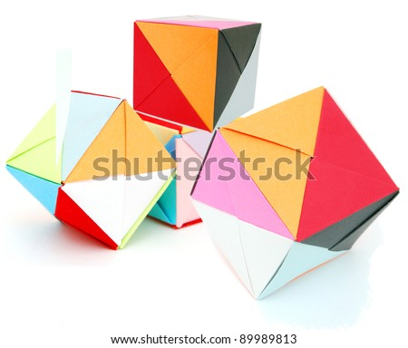 Origami Blocks On Learning Stock Photo Edit Now 89989813