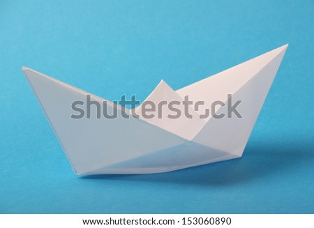 Origami Boat Made Blank White Paper Stock Photo (Edit Now