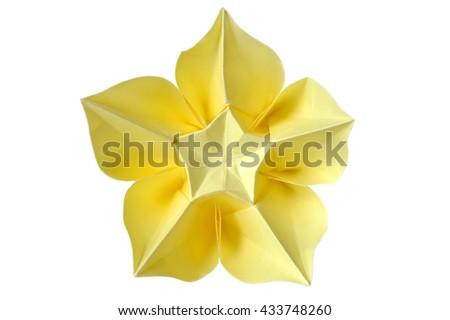 Origami Carambola Flower On White Background Stock Photo Edit Now