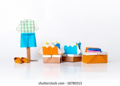 Origami clothing line (paper folding fashion)