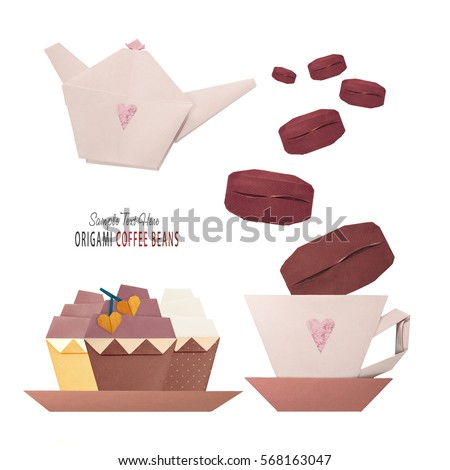 Origami Coffee Cupcake Stock Photo Edit Now 568163047 Shutterstock