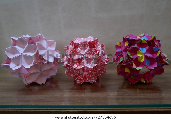 Decorative Crafts 25CM 1PCS Flower Origami Paper Fan Wedding ... | 421x600