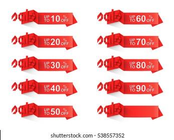origami discount sale label