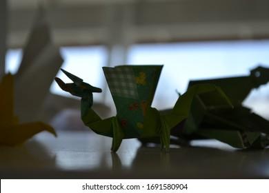 Origami Eastern dragon by Jun Maekawa Folded from a square of ... | 280x390