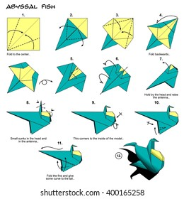 Origami Fish Instructions Steps