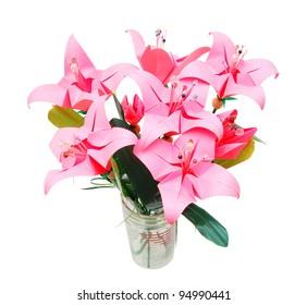 How To Make 3D Origami Flower Vase V9   DIY Paper Flower Vase Home ...   280x282