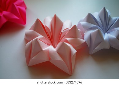 Orgami flowers images stock photos vectors shutterstock origami flowers of poinsettia mightylinksfo