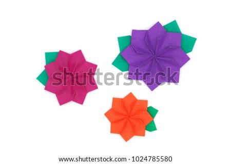 Origami Kids 3 Flowers Brighten Your Stock Photo Edit Now