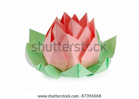 Origami Lotus Flower Stock Photo Edit Now 87396068 Shutterstock