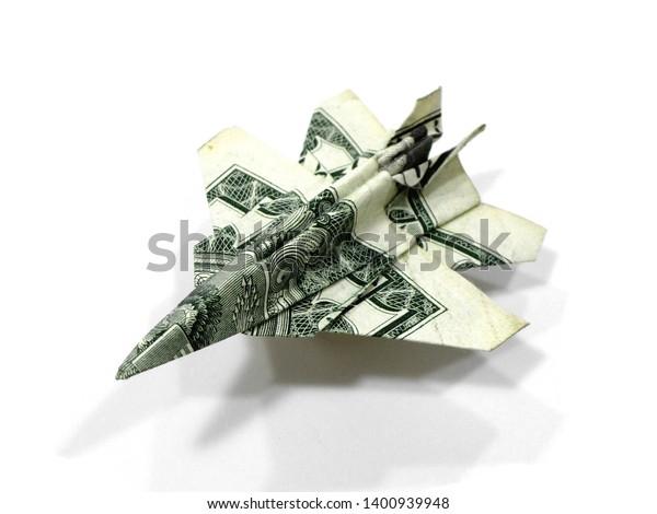 JET FIGHTER Money Origami - Dollar Bill Art - Military Gift for ... | 470x600