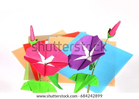 Origami Morning Glory Origami Papers Stock Photo Edit Now
