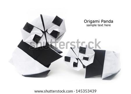 Origami Panda Stock Photo Edit Now 145353439 Shutterstock