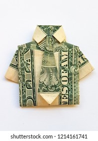 Origami from a paper bill American dollars