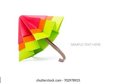Origami paper umbrella