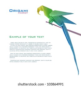 origami parrot – do origami | 280x260