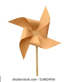 Origami recycle paper windmill