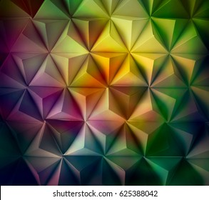 Origami tetrahedrons background