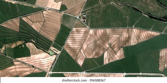 origami,allegory, tribute to Picasso, abstract photography of the Spain fields from the air, aerial view, representation of human labor camps, abstract, cubism, abstract naturalism,