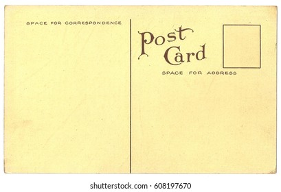 Original Antique Back Side POSTCARD with space for Correspondence and Address