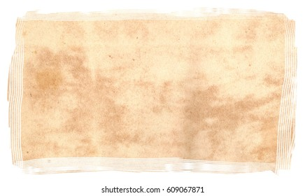 Original Antique Seventeenth Century PAPER Texture isolated on White Background,  particular edges, with space for your design or text.