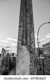 Original Berlin Wall - Berliner Mauer - BERLIN / GERMANY - SEPTEMBER 2, 2016