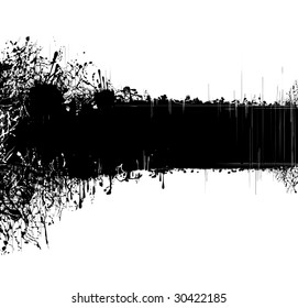 Original black abstract background with splashes