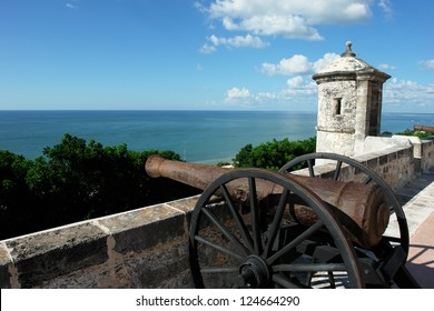 Original Cannon from the city Of Pirates: Campeche,Yucatan Peninsula,Mexico.