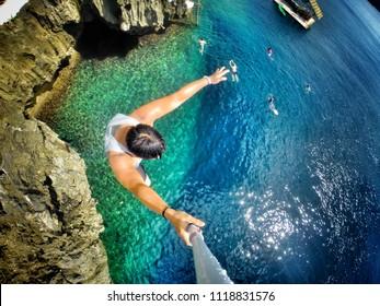 Original Cliff Diving Photo