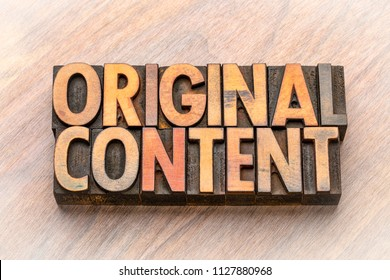 original content  - word abstract in vintage letterpress wood type blocks
