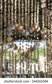 Original curtain made from the shells, Thailand