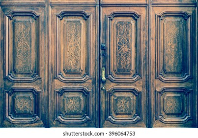 Original freemasonry door in Italy -  authentic door, more than 200 years old