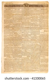 Original front page of an American newspaper, dated 1807.
