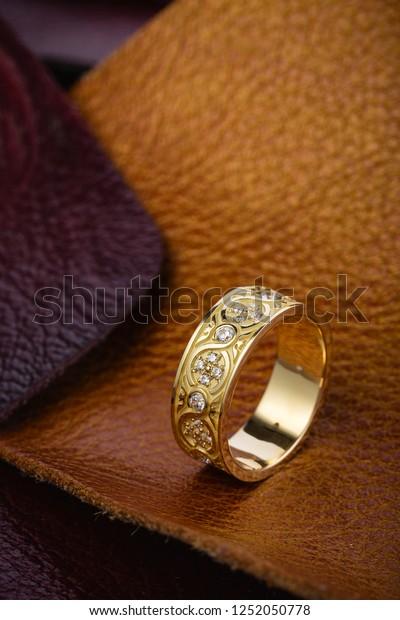 Original Gold Bridal Ring Pattern Diamonds Stock Photo Edit Now